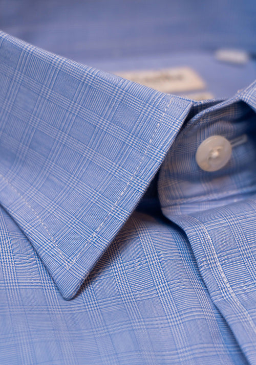 Frank Stella Blue Plaid Dress Shirt - Frank Stella Clothiers