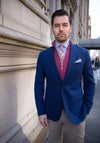 Navy Check Zegna Sport Coat