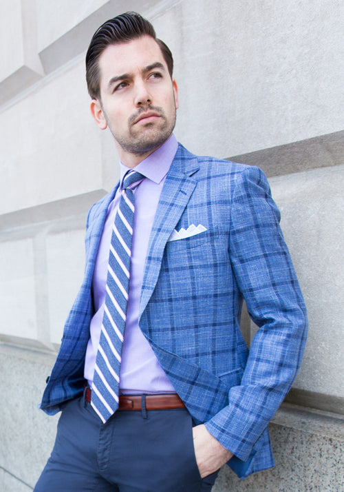 Blue Plaid Loro Piana Sport Coat
