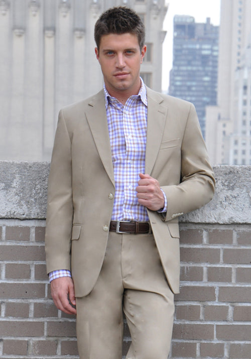 Khaki 100% Cotton Suit