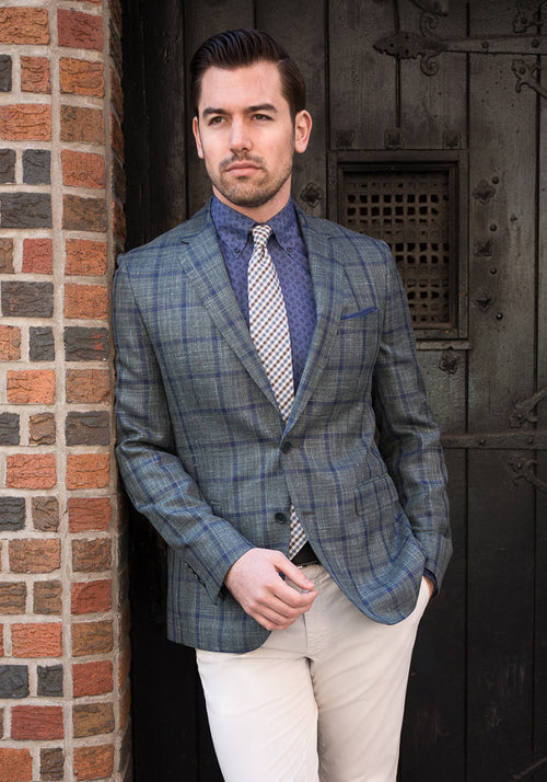 Olive Plaid Loro Piana Sport Coat