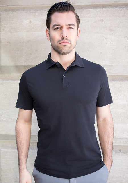 Linen Two Button Polo