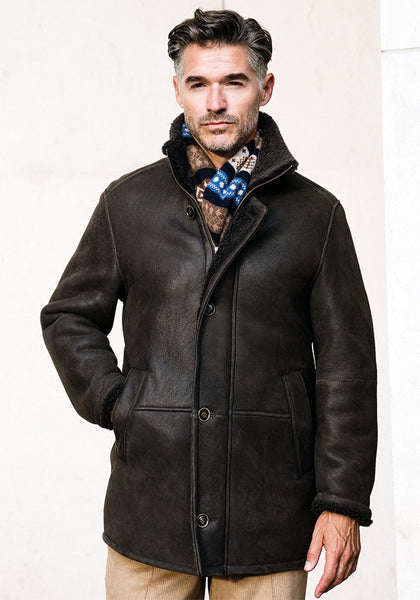 Frank Stella Classic 3/4 Length Shearling Coat - Men's & Women's - Frank Stella Clothiers