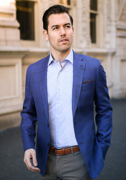 Blue & Camel Sport Coat