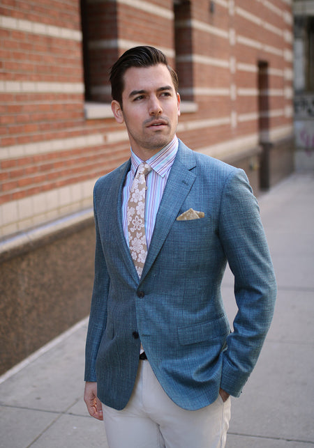 Classic Olive Pure Cotton Suit
