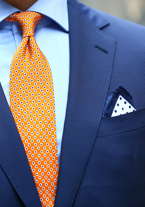 Tailored Fit Blue Stripe Suit