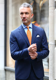 Frank Stella Tailored Fit Blue Stripe Suit - Frank Stella Clothiers