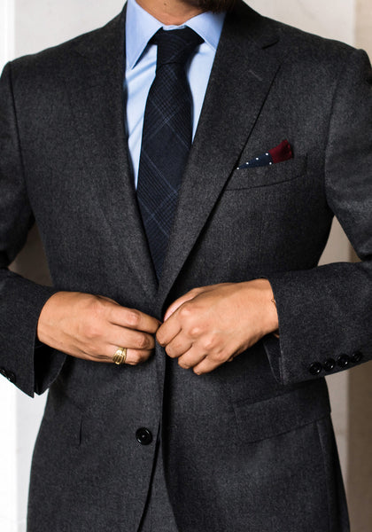 Tailored Fit Flannel Suit