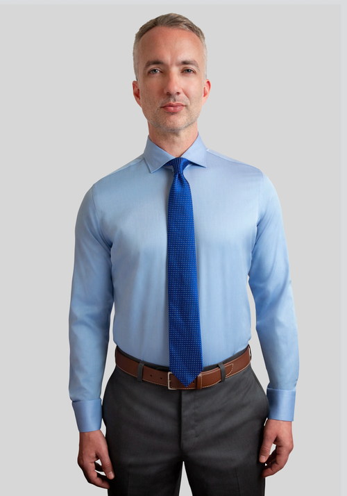 French Blue Slim Fit Dress Shirt