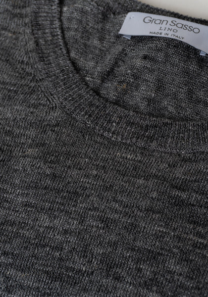 Gran Sasso Pure Linen Tee - Frank Stella Clothiers