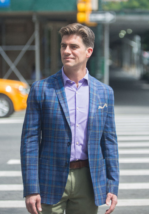 Blue Plaid Soft Jacket