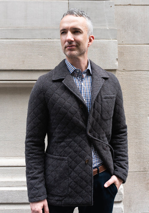 Frank Stella Italian Quilted Jacket - Frank Stella Clothiers