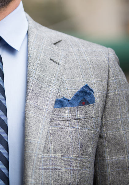 Tailored Fit Plaid Flannel Suit