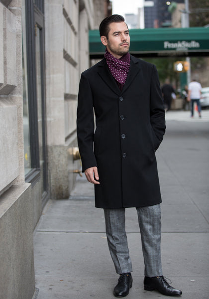 Frank Stella Cashmere & Wool Overcoat - Frank Stella Clothiers