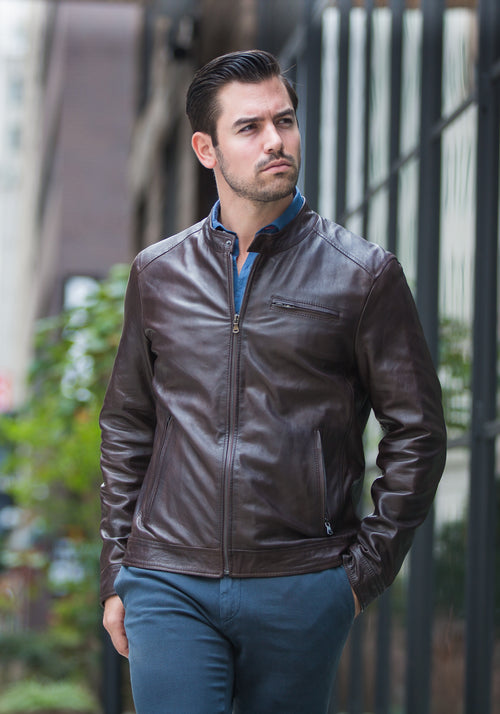 Jerry Kaye Leather Moto Jacket - Frank Stella Clothiers