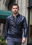 Jerry Kaye Leather Baseball Jacket - Frank Stella Clothiers