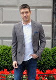 Tan & Navy Check Zegna Sport Coat