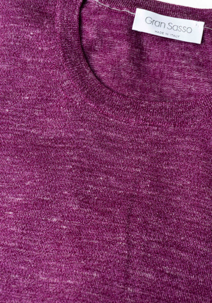 Gran Sasso Cashmere, Silk & Linen Long Sleeve Crew - Frank Stella Clothiers