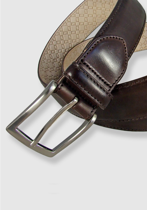 Leyva Bull Leather Belt - Frank Stella Clothiers