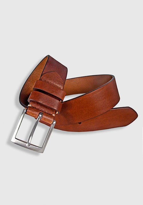 Leyva Flattened Leather Belt - Frank Stella Clothiers