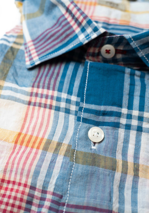 Porto Edge Lightweight Cotton Stretch Shirt - Frank Stella Clothiers