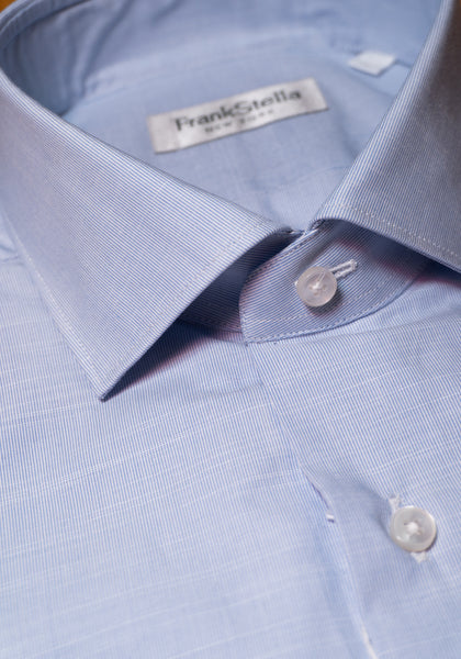 Frank Stella Light Blue Pattern Shirt - Frank Stella Clothiers
