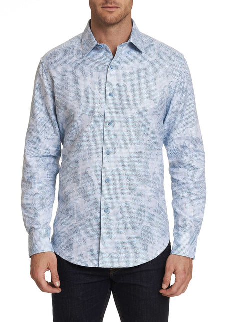 Agoda Paisley Knit Long Sleeve Shirt