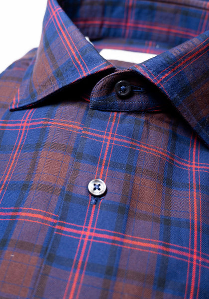 Frank Stella Red & Navy Plaid Shirt - Frank Stella Clothiers