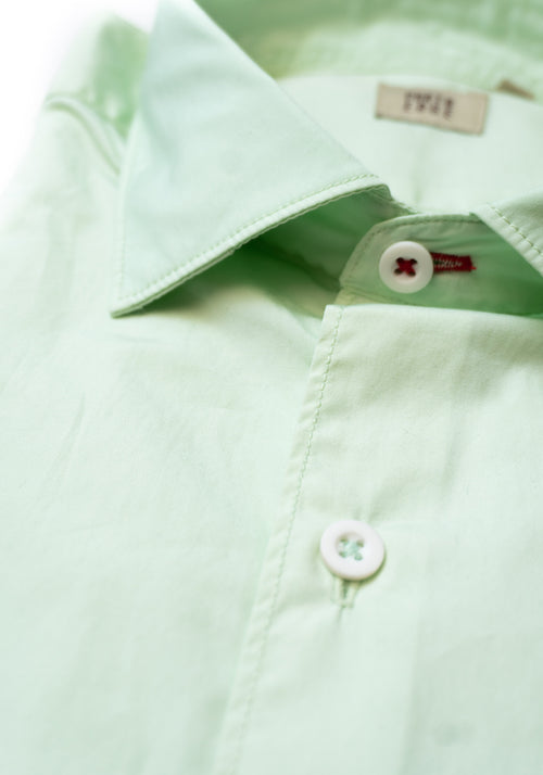 Porto Edge Polished Cotton Poplin Shirt - Frank Stella Clothiers