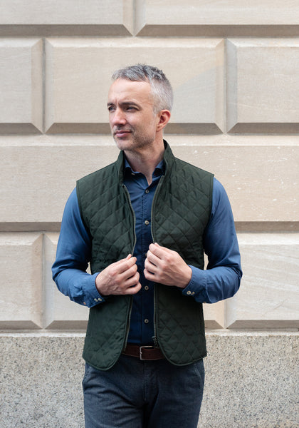 Frank Stella Quilted Vest - Frank Stella Clothiers