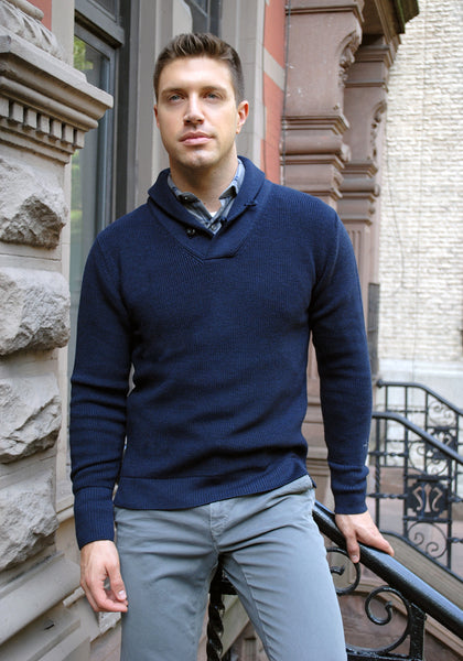Relwen Mechanic Shawl Sweater - Frank Stella Clothiers