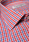 Frank Stella Red & Blue Check Sport Shirt - Frank Stella Clothiers