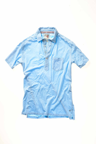 Slot-Button Jersey Polo