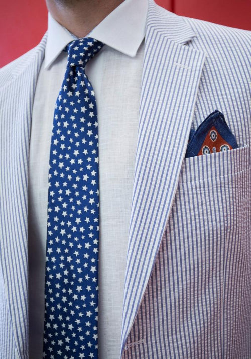 Blue & White Seersucker Sport Coat