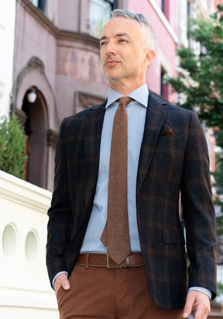 Blue & Camel Check Sport Coat