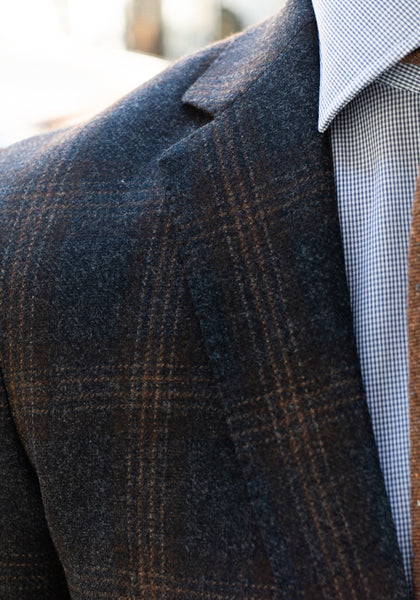 Frank Stella Charcoal & Brown Windowpane Sport Coat - Frank Stella Clothiers