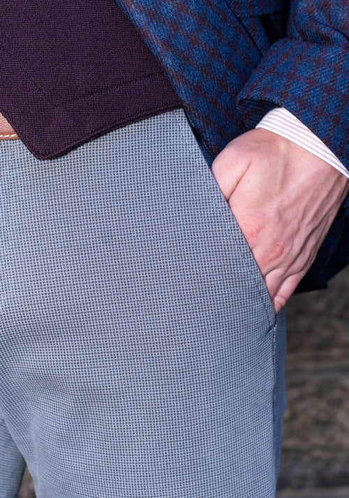 Mason's Mini Check Cotton Knit Pant - Frank Stella Clothiers