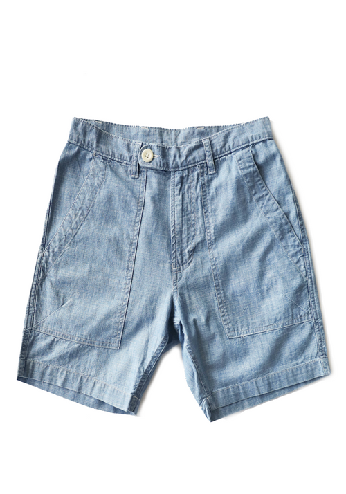Corridor Washed Chambray Camp Pocket Shorts - Frank Stella Clothiers