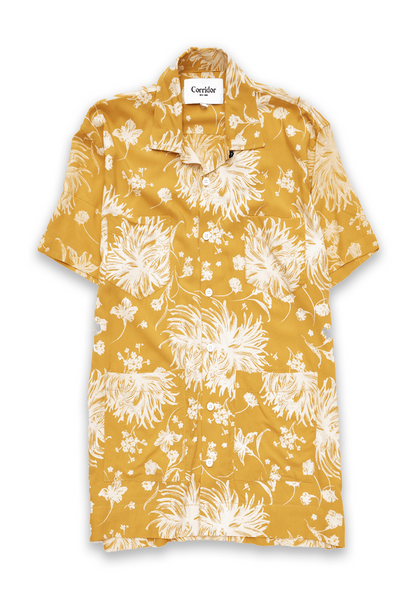 Corridor Yellow Floral Summer Shirt - Frank Stella Clothiers