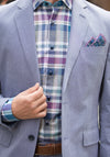 Teal Plaid Sport Shirt