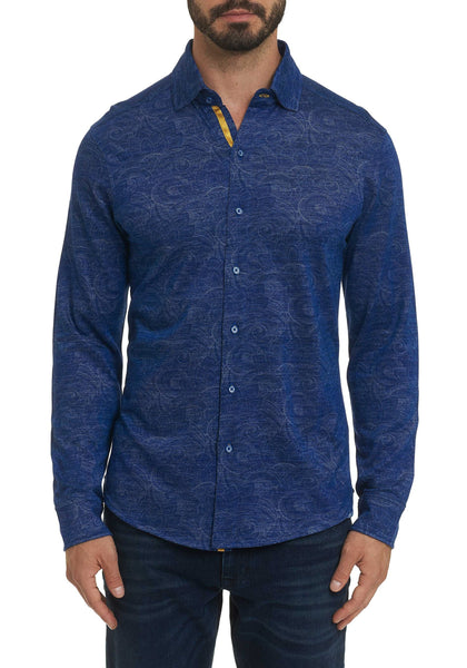 Robert Graham Agoda Paisley Knit Long Sleeve Shirt - Frank Stella Clothiers