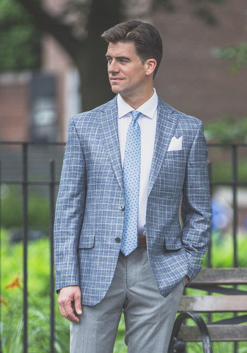 Jack Victor Check Bamboo Sport Coat - Frank Stella Clothiers