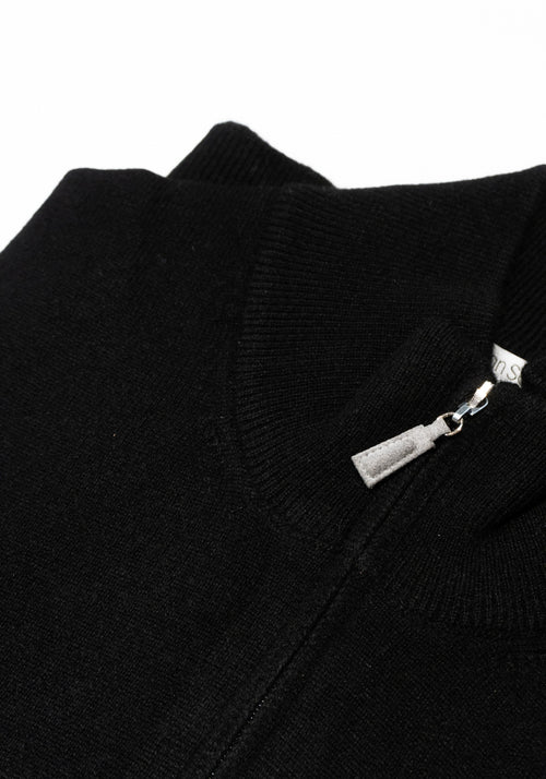 Pure Cashmere 1/4 Zip Sweater