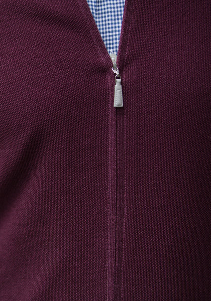 Gran Sasso Lightweight Merino Full Zip Sweater - Frank Stella Clothiers