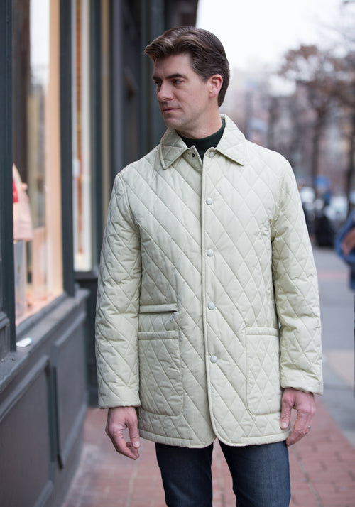 Frank Stella Quilted Storm System Jacket - Frank Stella Clothiers