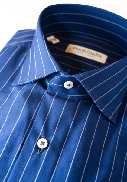 Frank Stella Royal Blue Stripe Shirt - Frank Stella Clothiers