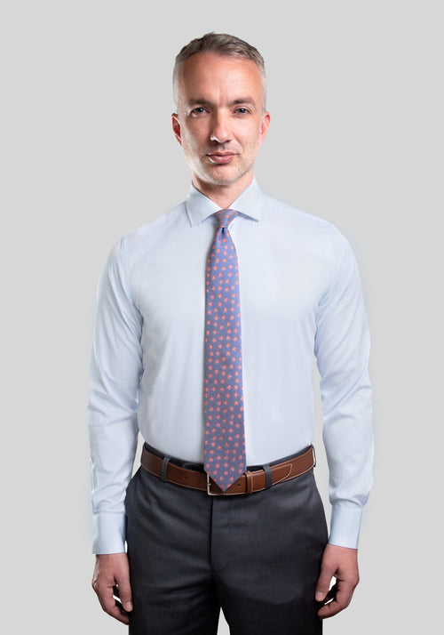 Frank Stella Light Blue Slim Fit Dress Shirt - Frank Stella Clothiers