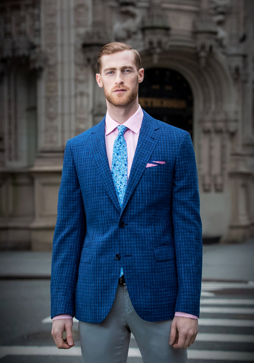 Blue Check Loro Piana Sport Coat