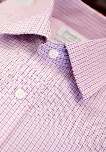 Lilac Stripe French Cuff Dress Shirt