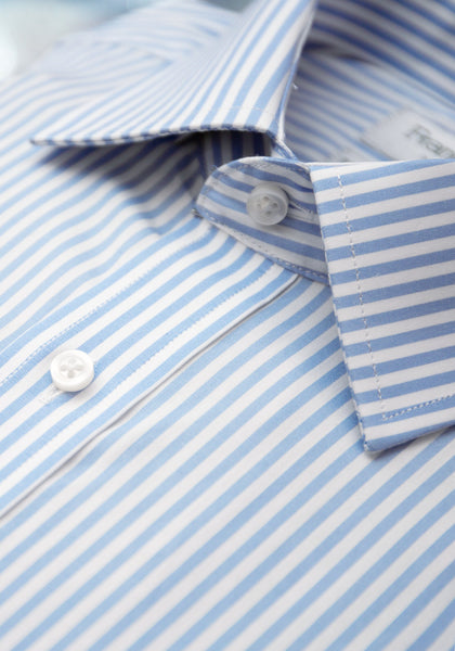 Blue/White Bengal Stripe French Cuff Dress Shirt